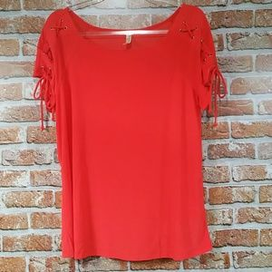 Perseption coral blouse